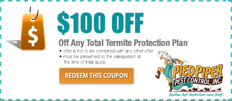 $100 Pest Control Coupon